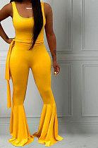 Womenswear Fashion Casual Straps Ioudspeaker Casual Jumpsuit D68296