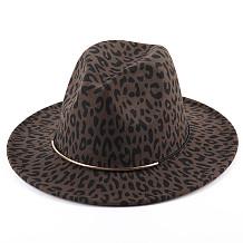 Woolen Leopard Hat Flat Hat Matching Hat Girl Jazz MJ1045