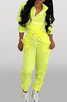 Fashion Casual Long Sleeve Zippert Spliced Two-Piece D68238