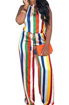 Sexy Colour Stripe Casual Jumpsuit D68281
