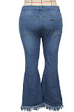 Fashionable Joker Ripped Stretch And Bell-Bottom Pants SMR2388