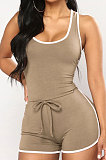 Pure Color Sexy Sportswear Jumpsuits Shorts WMZ2545