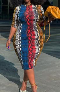 Fashion Long Multicolor The Gradient Dresses QZ5273