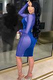 Pleuche Net Yarn Spliced Sexy Club Mini Dress WMZ2622