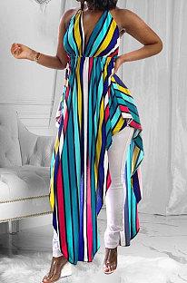 Blouse imprimée Euramerican Woemswear Halter Stripe ED8211