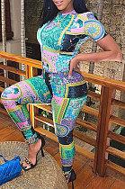 Euramerican Women Fashion Printing فضفاض من قطعتين WSY5828