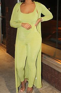 Green Fashion Conjoinde Long Pant Deux-pièces SDE2966