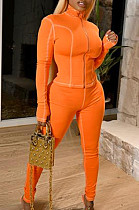 Orange Fashion Casual Cultivate One's Morality Sports Suit  LML198