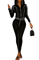 Black Fashion Casual Cultivate One's Morality Sports Suit  LML198