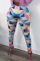 Colourful Trees Autumn Winter Printing Trendy Bottoming  Casual Long Pants AD1107
