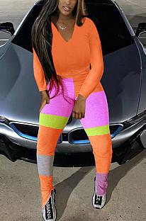 オレンジファッション秋冬カジュアルパーカーが一緒にオープンフォークツーピースTK6110