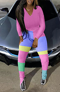 ピンクのファッション秋と冬のカジュアルなパーカーが一緒にオープンフォークツーピースTK6110