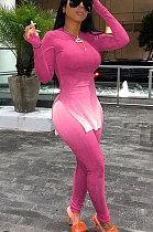 الوردي المرأة التدرج لون الطباعة الترفيه WearTrendy عارضة قطعتين AD1202