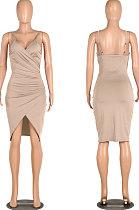 فستان نسائي قصير مثير لربيع وصيف من Apricot Gallus زراعة المرء في أخلاقه WMZ6233
