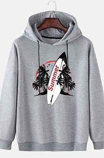 GrayMen's Autumn And Winter Casual Summer Surfboard Hooded CMM115