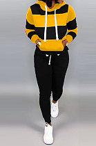 Black Autumn Winter Fashion Casual Sport Hoodies Fleece Two-Pieces D8313