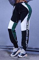 جوكر ضيق عالي الخصر شارع محب عصري سروال رصاص كاجوال WM701