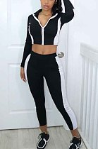 Black Cultivate One's Morality Joining TOgether Sportswear Suit XMY041