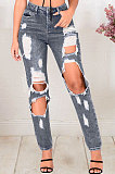 Gray Hole Make Someone Look Slimme Girl Jeans Long Pants JLX5119