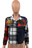 Plaid Casual Top Print Grid Shirts QSS5045