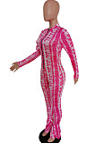 Lake Green Cultivate One's Morality Fashion Fishtal Print Jumpsuits QSS5020