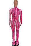 White Cultivate One's Morality Fashion Fishtal Print Jumpsuits QSS5020