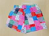 Color Pink Summer Quilting Printing Casual House Pants Beach Pants Shorts FH108