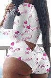 Army Green Camo Euremerican Women Sleepwear Home Wear Multi Printing Romper Shorts Q765