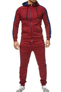 Big Size Color Matching Spliced Casual Sport Sets TW050