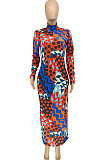 Multicolor Fashion Trend  Joining Together Long Dress WME1021