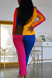 Multicolor Fashion Casual Joining Together Contrast Color Two-Piece WME1018