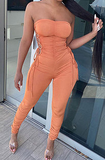 Trendy Casual Ruffle Sexy Bodycon Jumpsuits GLS8124