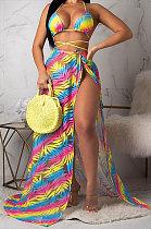 Amarelo Euramerican Mulheres Verão Sexy Biquíni Casaco de Chiffon Manto Moda Três Peças Trajes de banho ORY5097