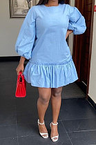 Свободное мини-платье с застежкой-молнией Falbala Shrink Fold RMH8705