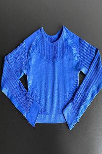 Yogapak Strak Ademend Uitgesneden Fitnesskleding T-shirts met lange mouwen TX4435