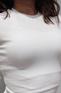 Simplee T-shirts Sport Fitness Cultiveer iemands moraal Ronde hals Mouwen T-shirts TX3289
