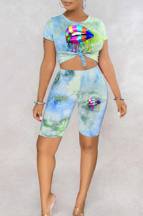 Tie Dye Iips Positioning Casual Two-Piece MLL116