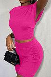 Eurmerican Dames Sexy Pure Color Shorts Sets QHH8612