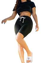 Sexy Euramerican Club Pure Color Jacket Shorts Sets XQ1094