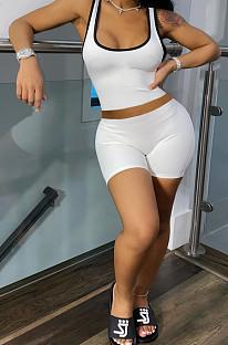 Mode Casual Prue Couleur Gilet Shorts Deux Pièces WY6691