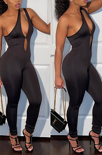 Inclinde Shoulder Off Shoulder Halterunch Casual Jumpsuit CYY8075