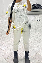 Euramerican Women Sexy Fashion Sport Cotton Pants Sets LYY9287