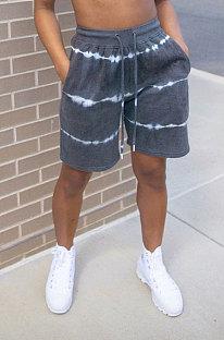 Fashion Casual Simplee Printing Loose Shorts PU6058