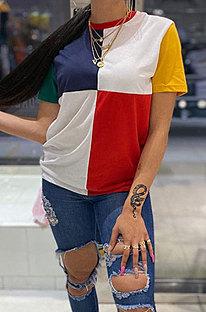 Trendy casual kleur dames korte mouwen T-shirts GLS8099