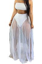 ملابس سباحة نسائية عصرية من Euramerican بتصميم شبكي ملفوف من الغزل ثلاث قطع ملابس سباحة HR8162