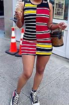 Fashion Paint Cans Positioning Print Dresses QL6019