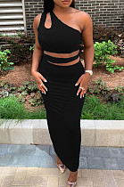 Casual Fashion Sleeveless Vest Long Dress Two-Piece QL6022