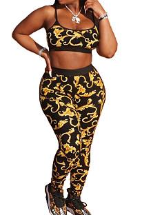 Fashion Print Sports Casual Sling Two-Piece ZNN9039