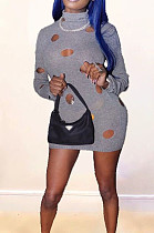 Fashion Sexy Hole Casual Dresses ZNN9041