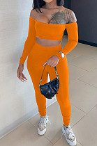 Prue Color A Word Shoulder Even The Sleeve Bood Tude Top Sports Two-Piece TRS1118